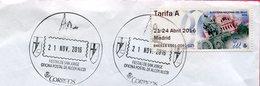 Espagne - 2016 - ATM Tarif A Feria Del Sello Madrid - Cibeles - S/enveloppe Circulée - 1931-Today: 2nd Rep - ... Juan Carlos I