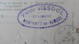 PW / EP N°27 MONTIGNY S/ SAMBRE 18-05-1912 Livraison Houblon Pour Brasserie à Montigny, Brasseur Victor VISSOUL - Postkaarten [1909-34]