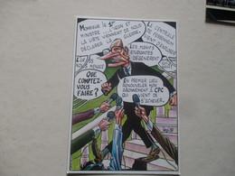 RARE CP Revue CPC CPSM Cp 1987 ILLUSTRATEUR BERNARD VEYRI TIRAGE LIMITE JACQUES CHIRAC POLITIQUE TBE - Veyri, Bernard