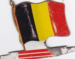 Figurine Publicitaire Biscuits L'Alsacienne - Drapeau - Belgique - Années 60/70 - Tôle - Publicité