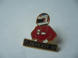 PIN'S PINS G.BERGER 91  MALBORO THÈME PILOTE FORMULE 1 - Automobilismo - F1