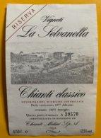 13767 - Vignelli La Selvanella 1977 Chianti Classico - Other