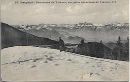 CPSM. 38 PANORAMA DU TRIEVES. VUE PRISE AU-DESSUS DE PREMOL. - France