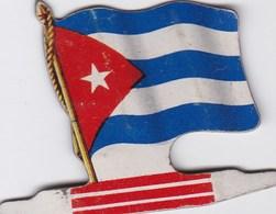 Figurine Publicitaire Biscuits L'Alsacienne Petit-Exquis - Drapeau - Cuba - Années 60/70 - Tôle - Americorama - Publicité