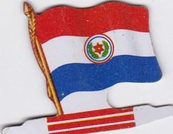 Figurine Publicitaire Biscuits L'Alsacienne Petit-Exquis - Drapeau - Paraguay - Années 60/70 - Tôle - Americorama - Publicité