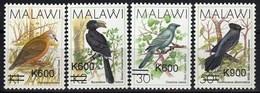 Malawi 2017 Fauna Birds OVPT 4v MNH - Malawi (1964-...)