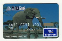 MDM Bank RUSSIA Elephant  VISA EXPIRED 2008 - Cartes De Crédit (expiration Min. 10 Ans)