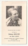 Doodsprentje Décès Madame BOUCHE Née Elisa Lagae Beringen 1968 - Images Religieuses