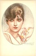 MAUZAN - Superbe Carte Portrait De Femme - TBE - Mauzan, L.A.