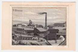 CPA LOIRE.SAINT ETIENNE.CARTE TISSEE SOIE.TRES RARE.ENVIRON 1900-1905 - Saint Etienne