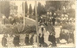 VILLEFRANCHE SUR MER . OCCUPATION ITALIENNE .1942 . LEVEE DES COULEUR . CHASSEURS ALPINS - War, Military