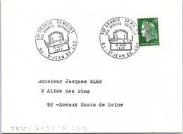 SPORTS  -  50e GRANDE SEMAINE DES SPORTS BASQUES - 15 AOUT 1972 ST JEAN DE LUZ 64   / 1 - Marcofilia (sobres)