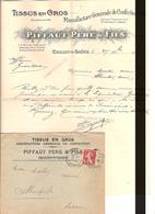 Obl DAGUIN Type Semeuse 10c , Chalon Sur Saone PourAberville Avec Lettre Tissus En GROS Lot 161 - 1906-38 Semeuse Camée