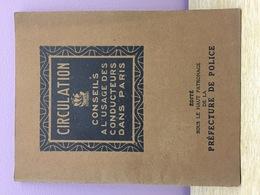 Guide 1922 Circulation à Paris - Oude Documenten