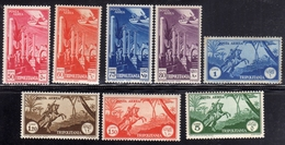COLONIE ITALIANE TRIPOLITANIA 1931 - 1932 POSTA AEREA AIR MAIL SOGGETTI AFRICANI SERIE COMPLETA COMPLETE SET MNH - Tripolitania