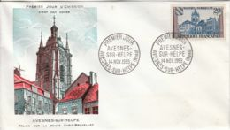 FRANCE - 1959 - FDC - Enveloppe Illustrée - Avesnes-sur-Helpe - FDC