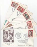 FRANCE - 1959 - FDC - Lot De 5 Enveloppes Illustrées - Comédiens Français - 1960-1969