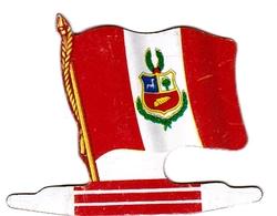 Figurine Publicitaire Biscuits L'Alsacienne  Petit-Exquis - Drapeau - Pérou - Années 60/70 - Tôle - Americorama - Publicité