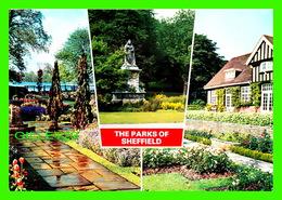 SHEFFIELD, UK - THE PARKS OF SHEFFIELD - 4 MULTIVUES - ENDCLIFF PARK, GARDENS, GRAVES PARK - A DENNIS POSTCARD - - Sheffield