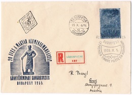 FDC Avion Industrie Airplane Industry Aluminium Ungarn Hungary Hongrie 1955 - Lettere