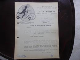 DOCUMENT - ETS L. BRESSON - MANUFACTURE DE CYCLES ET JOUETS POUR ENFANTS - SAINT ETIENNE - RHONE ALPES - 1953 - 1950 - ...