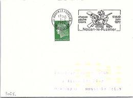 SPORTS  - CHAPEX SOLOGNE 17-18-19 JUIN 1972 - NOUAN LE FUZELIER 1.6.1972 LOIR ET CHER   / 2 - Commemorative Postmarks