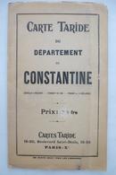 CARTE TARIDE Du Département De CONSTANTINE - Frontière De 1934 - Edition 1950 - Geographical Maps