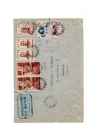 Madagascar Lettre Avec  Timbre 100 Fr P A... T A A F  Surcharge Terre Adelie 10 3 1951 - Franse Zuidelijke En Antarctische Gebieden (TAAF)