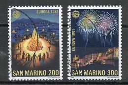 Saint Marin - San Marino 1981 Y&T N°1024 à 1025 - Michel N°1225 à 1226 (o) - EUROPA - Saint-Marin