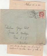 Yvert 517 Pétain Cachet Ambulant Convoyeur BOURG ST MAURICE à ST PIERRE D'ALBIGNY 27/5/1943 Jeunesse Et Montagne - Marcophilie (Lettres)