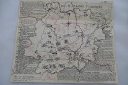 CARTE Du LOT-ET-GARONNE : Sur Le Route Mauve - Edition 1954 - Maps