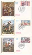 FRANCE - 1971 - FDC - Lot De 3 Enveloppes Illustrées - Histoire De France - FDC