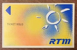 13 MARSEILLE TICKET SOLO COINS CARRÉS DE 2008 TITRE DE TRANSPORT MAGNÉTIQUE QUE POUR LA COLLECTION - Bus