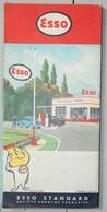 ESSO CARTE DE FRANCE 1957 GOUTTE GARAGE - Maps/Atlas