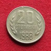 Bulgária 20 Stotinki 1988 KM# 88 Bulgarie Bulgarije Bulgarien - Bulgarije