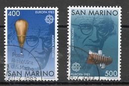 Saint Marin - San Marino 1983 Y&T N°1074 à 1075 - Michel N°1278 à 1279 (o) - EUROPA - Saint-Marin