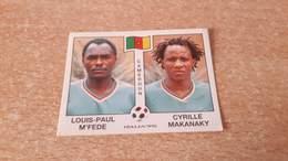 Figurina Panini WM Italia 90 - 178 M'Fede/Makanaky Camerun - Panini