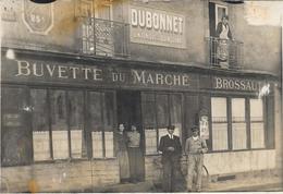 Carte Photo Guerande - Buvette Du Marche Brossault - Gros Plan - Place St Aubin - - Guérande