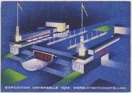 29454g  PHILIPS - ECLAIRAGE RADIOPHONIE - EXPOSITION UNIVERSELLE 1935 - INVITATION - Reclame