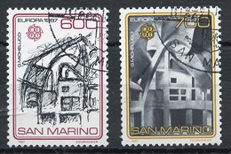Europa CEPT 1987 Saint Marin - San Marino Y&T N°1148 à 1149 - Michel N°1354 à 1355 (o) - 1987