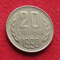 Bulgária 20 Stotinki 1990 KM# 88 *V1  Bulgarie Bulgarije Bulgarien - Bulgarije
