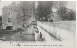Riberac - Les Bords De La Dronne (Pont Et Moulin Paquie) - Cachet Poste 2 Septembre 1913 - Riberac