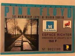 Tickets D'entrée - Show / Concert Pink Floyd 24/07/1988 à Montpellier - The Momentary Lapse Of Reason Tour - Tickets D'entrée