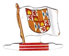 Figurine Publicitaire Biscuits L'Alsacienne Chamonix Orange - Armoiries Des Rois D'Espagne - Années 60/70 Grand Pavois - Publicité
