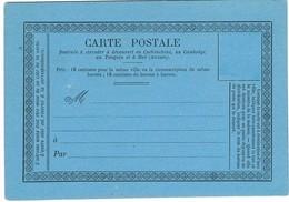 Carte Précurseur Cochinchine Neuve . SUP. A Saisir !! - Cochinchine (1886-1887)