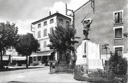 CPA RHONE COURS PLACE DU CENTRE - Cours-la-Ville