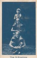 The 3 Erwinos, Circus Acrobats Entertainers, C1920s Vintage Postcard - Circus