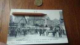 CPA Vidanges De Jour  D'Avranches Beuzeval Ent Legros Attelage Vélo Animée Normandie Vieux Métiers Commerce Transport - Street Merchants