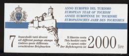 Europa 1990 Saint Marin - San Marino 1990 Y&T N°C1442 - Michel N°MH2 (o) - Année Du Tourisme - Idées Européennes
