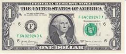 BILLETE DE ESTADOS UNIDOS DE 1 DOLLAR DEL AÑO 2017 LETRA F ATLANTA - GEORGIA (BANK NOTE) - Federal Reserve Notes (1928-...)